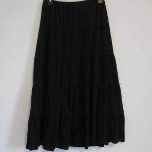 Soft Cotton Black Skirt ~ Size Small